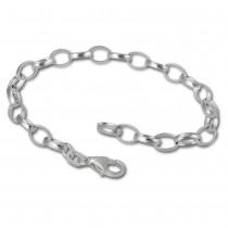 SilberDream 925 Sterling Silber Charm Bettelarmband 18cm FC0101