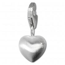 SilberDream 925 Silber Charm Herz matt Armband Anhänger FC3108