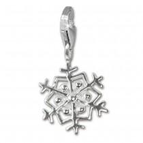 SilberDream Silber Charm Schneeflocke Armband Anhänger FC3115