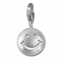 SilberDream Charm Smiley 925er Silber Armband Anhänger FC3148