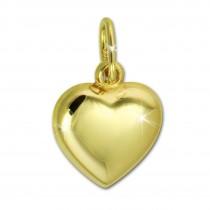 GoldDream Kettenanhänger Herz 375er Gelbgold Anhänger Echtschmuck GDH000Y