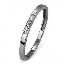 GoldDream Gold Ring Zirkonia weiß Gr.56 333er Weißgold GDR502J56
