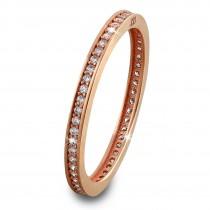 GoldDream Gold Ring Zirkonia weiß Gr.54 333er Rosegold GDR504E54