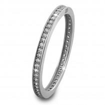 GoldDream Gold Ring Zirkonia weiß Gr.56 333er Weißgold GDR504J56
