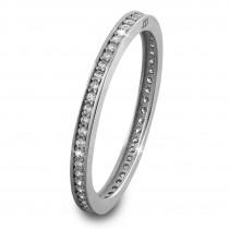 GoldDream Gold Ring Zirkonia weiß Gr.58 333er Weißgold GDR504J58