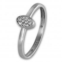 GoldDream Gold Ring Oval Zirkonia weiß Gr.54 333er Weißgold GDR507J54