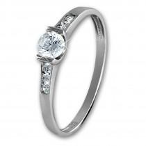 SilberDream Gold Ring Kristall Zirkonia weiß Gr.54 333er Weißgold GDR508J54