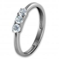 GoldDream Gold Ring 3er Zirkonia weiß Gr.60 333er Weißgold GDR511J60