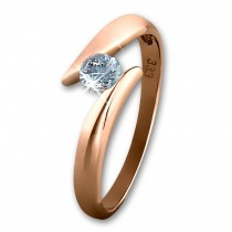 GoldDream Gold Ring Big Zirkonia weiß Gr.58 333er Rosegold GDR512E58