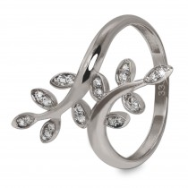 GoldDream Gold Ring Gr.58 Ranke Zirkonia 333er Weißgold GDR515J58