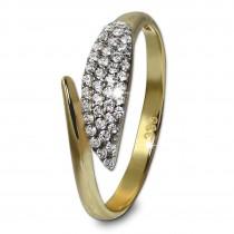 GoldDream Gold Ring Blatt Gr.56 Zirkonia weiß 333er Gelbgold GDR517Y56