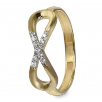GoldDream Gold Ring Infinity Gr.58 Zirkonia 333er Gelbgold GDR519Y58