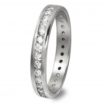 GoldDream Gold Ring Gr.58 Zirkonia weiß 333er Weißgold GDR520J58