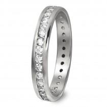 GoldDream Gold Ring Gr.60 Zirkonia weiß 333er Weißgold GDR520J60