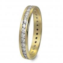 GoldDream Gold Ring Gr.54 Zirkonia weiß 333er Gelbgold GDR520Y54