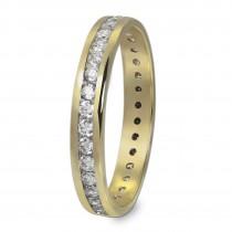 GoldDream Gold Ring Gr.56 Zirkonia weiß 333er Gelbgold GDR520Y56