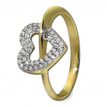 GoldDream Gold Ring Gr.60 Herz Zirkonia 333er Gelbgold GDR521Y60