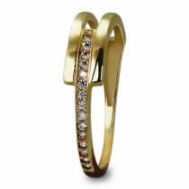 GoldDream Gold Ring Gr.54 Zirkonia weiß 333er Gelbgold GDR526Y54
