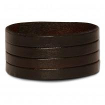 SilberDream Lederarmband Riemchen braun Herren Leder Armband LA5428B