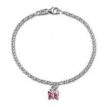 SilberDream Kinder Armband Schmetterling rosa 16cm Silber SDA024