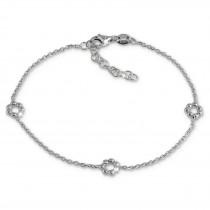 SilberDream Armband Blümchen 925 Sterling Silber Damen 18cm - 21cm SDA1148J