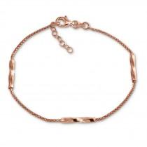 SilberDream Armband 925 Sterling Silber rosévergoldet Damen 18cm - 21cm SDA1168E
