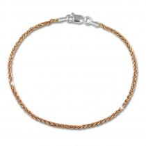 SilberDream Armband Zopf Rose vergoldet 925er Silber Damen 19cm SDA2069E