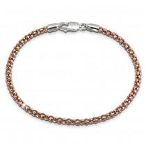 SilberDream Armband Himbeerkette rose vergoldet 925er Silber Damen 19cm SDA2269E