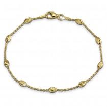 SilberDream Damen Armband Ankerkette 19cm Silber vergoldet Trendschmuck SDA2389Y