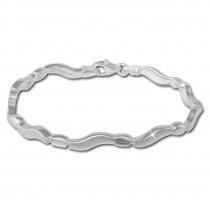 SilberDream Armband Welle matt/glänzend 925 Sterling Silber 19cm SDA432
