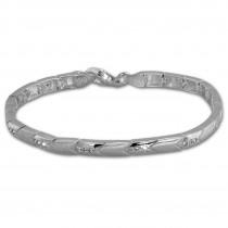 SilberDream Armband Pfeile Zirkonia weiß 925er Silber 19cm Damen SDA451W