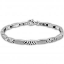 SilberDream Armband Schliff matt/glänzend 925 Sterling Silber 19cm Damen SDA471J