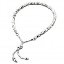 SilberDream Armband Himbeerkette Zugverschluss 925er Silber Damen SDA7003J