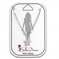 SilberDream Fußkette Stern Zirkonia weiß 25cm 925 Sterling Silber SDF5085W