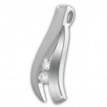 SilberDream Ketten Anhänger Beauty Zirkonia weiß 925 Silber SDH422W