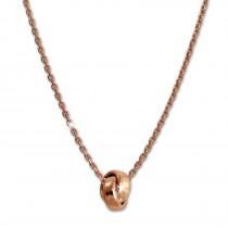 SilberDream Collier Kette verschlungen rosévergoldet 925 Silber 44cm SDK11344E