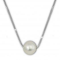 SilberDream Halskette Süßwasser Perle weiß 925 Sterling Silber Damen SDK1539W
