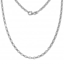 SilberDream Erbskette oval 925er Silber Halskette 70cm Kette SDK20970