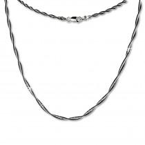 SilberDream Collier Kette Fantasie schwarz 925 Silber Damen 45cm SDK21745S