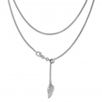 SilberDream Collier Kette Flügel 925er Sterling Silber Damen 45cm SDK23445J