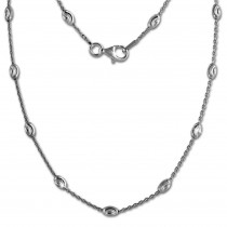 SilberDream Kette Glamour 925er Silber 45cm Damen Kette SDK26245J