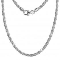 SilberDream Collier Kette Doppelanker 925er Silber Damen 45cm SDK26345J