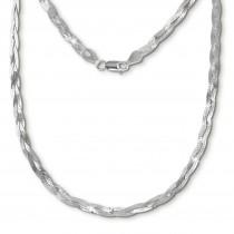 SilberDream Halskette geflochten 925 Sterling Silber Damen 45cm SDK27645J