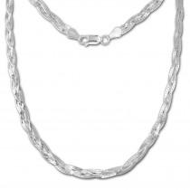 SilberDream Halskette geflochten 925 Sterling Silber Damen 50cm SDK28350J