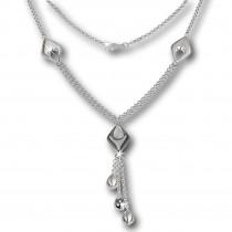 SilberDream Collier Kette Drop 925 Silber 45cm Halskette SDK413