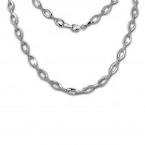 SilberDream Collier Oval Zirkonia weiß 925er Silber 44,5cm Halskette SDK449W