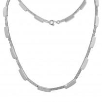 SilberDream Collier Square Zirkonia weiß 925er Silber 44,5cm Halskette SDK454W