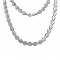 SilberDream Collier Dreiecke Zirkonia weiß 925er Silber 45cm Halskette SDK457W
