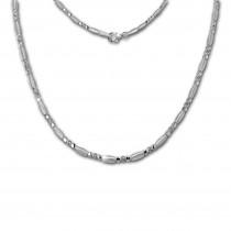 SilberDream Collier Elegant Zirkonia weiß 925er Silber 45cm Halskette SDK458W