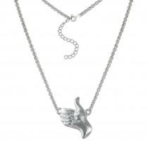 SilberDream Collier Kette Handzeichen Daumen hoch 925 Silber 46cm SDK50944J